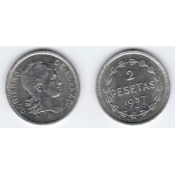 1937 2 Pesetas (SC)