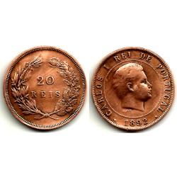 (553) Portugal. 1892. 20 Reis (BC)