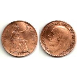 (826) Gran Bretaña. 1927. 1 Penny (BC)