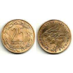 (10) Estados África Central. 1975. 25 Francs (MBC+)