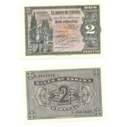 [1938] Billete de 2 Pesetas (EBC). Abril-1938.