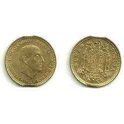 Estado Español. 1966*(19-75). 1 Peseta (EBC) Doble pellizco cospel