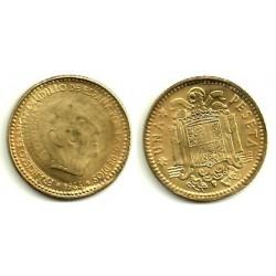 Estado Español. 1966*(19-69). 1 Peseta (MBC) Repicada