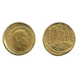 Estado Español. 1966*(19-67). 1 Peseta (EBC) Desplazada