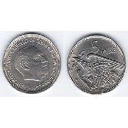 Estado Español. 1957*(BA). 5 Pesetas (SC)