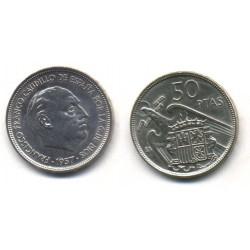 Estado Español. 1957*(BA). 50 Pesetas (SC)