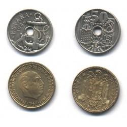 Estado Español. 1949*(E-51). 50 Céntimos y 1 Peseta (SC)