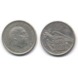 Estado Español. 1957*(75). 25 Pesetas (Proof)