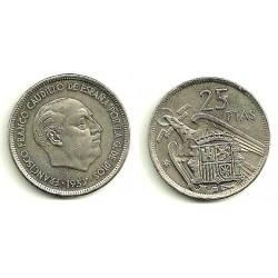 Estado Español. 1957*(75). 25 Pesetas (EBC)
