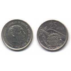 Estado Español. 1957*(74). 25 Pesetas (EBC-)
