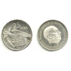 Estado Español. 1957*(74). 25 Pesetas (Proof)