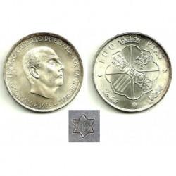 Estado Español. 1966*(19-69). 100 Pesetas (SC) Palo Recto