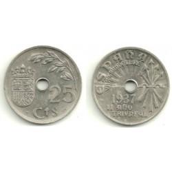 Estado Español. 1937. 25 Céntimos (EBC)