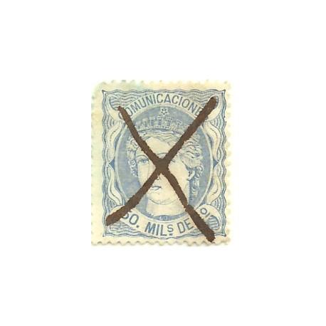 (107) 1870. 50 Mils. de Escudo