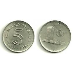 (3) Malasia. 1982. 5 Sen (SC)