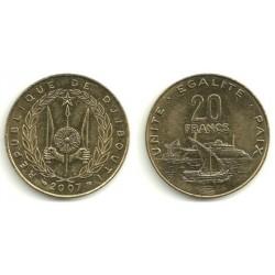 (24) Djibouti. 2007. 20 Francs (SC)