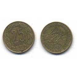 (10) Estados Africa Central. 1975. 25 Francs (MBC)