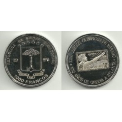 (PN38) Guinea Ecuatorial. 1996. 1000 Francs (Proof)