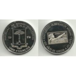 (PN38) Guinea Ecuatorial. 1996. 1000 Francs (Proof)