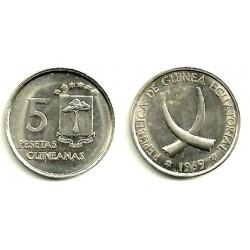 Guinea Ecuatorial. 1969(*19-69). 5 Pesetas (EBC)