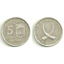 (2) Guinea Ecuatorial. 1969(*19-69). 5 Pesetas (MBC)