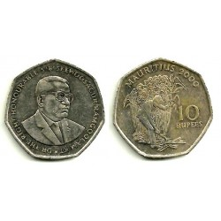 (61) Mauricio. 2000. 10 Rupees (MBC)