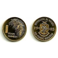 (56) República de Guinea. 1985. 1 Franc (SC)