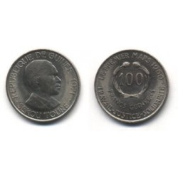 (41) República de Guinea. 1971. 100 Francs (SC)