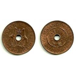 (1) Rhodesia y Nyasaland. 1958. ½ Penny (SC)