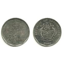 (51.2) Seychelles. 2000. 5 Rupees (SC)
