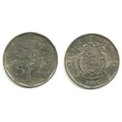 (51.2) Seychelles. 2000. 5 Rupees (EBC)