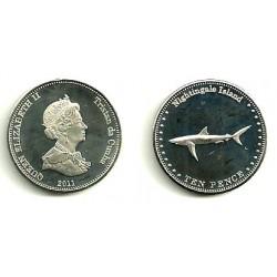 Tristán de Acuña. 2011. 10 Pence (SC)