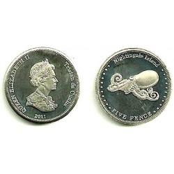 Tristán de Acuña. 2011. 5 Pence (SC)