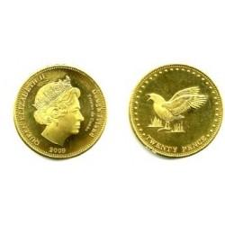 Tristán de Acuña. 2009. 20 Pence (Proof)
