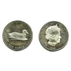 Tristán de Acuña. 2009. 10 Pence (Proof)