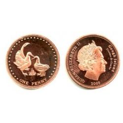Tristán de Acuña. 2009. 1 Penny (Proof)