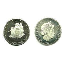 Tristán de Acuña. 2009. 5 Pence (Proof)