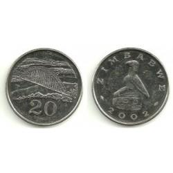 (4a) Zimbabue. 2002. 20 Cents (SC)