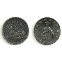 (5a) Zimbabue. 2001. 50 Cents (SC)