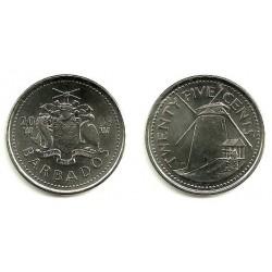 (13) Barbados. 2008. 25 Cents (SC)