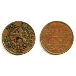 (42) Curasao. 1947. 2 ½ Cents (MBC)