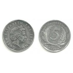 (36) Estados Orientales Caribeños. 2008. 5 Cents (SC)