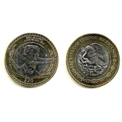 Estados Unidos Mexicanos. 2013. 20 Pesos (SC)
