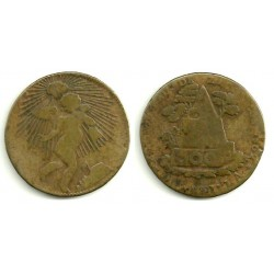 (366) Estados Unidos Mexicanos. 1862. ¼ Real (BC)