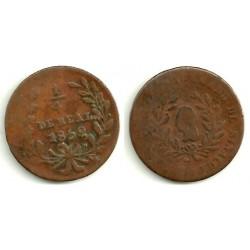 (363) Estados Unidos Mexicanos. 1859. ¼ Real (BC)