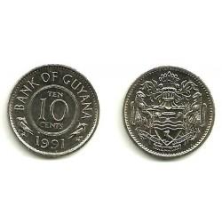 (33) Guyana. 1991. 10 Cents (SC)