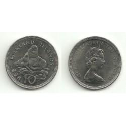 (5.2) Islas Malvinas. 1998. 10 Pence (SC)