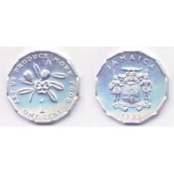 (64) Jamaica. 1991. 1 Cent (SC)