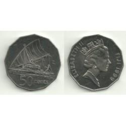 (54a) Islas Fiji. 1999. 50 Cents (SC)