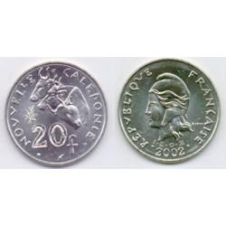 (12) Nueva Caledonia. 2002. 20 Francs (SC)